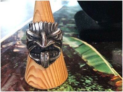 Modern Men's Stainless Steel Tiki God Ring