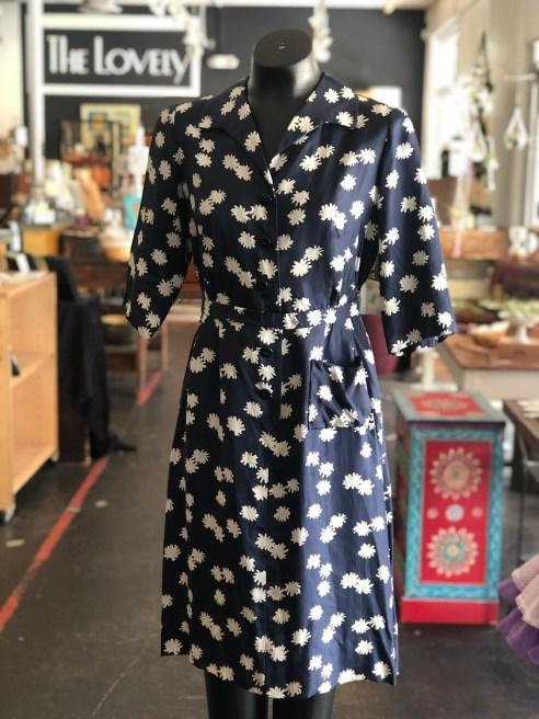 Vintage 1960's Handmade Belted Day Dress