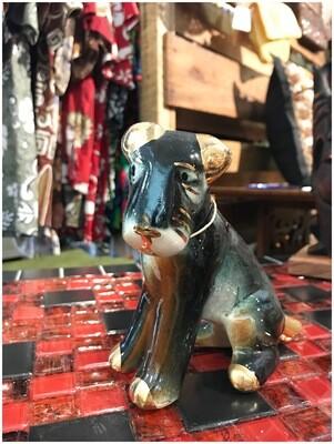 1950's Gold & Black Terrier Figurine