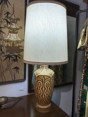 Mid Century Lamp with Original Shade