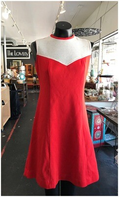 Vintage Sleeveless Darted Two Toned Day Dress