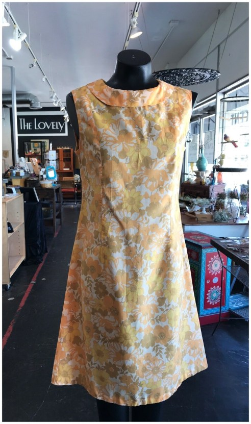 Vintage 70's Collard Day Dress