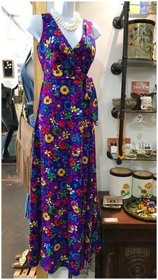 Vintage Purple Floral Jumpsuit