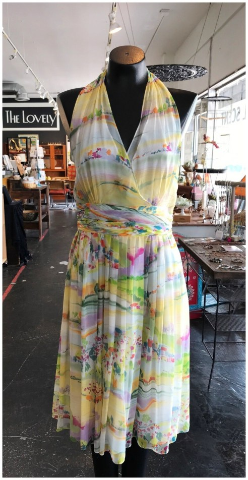 Modern Halter Garden Party Dress