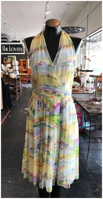 Modern Halter Garden Party Dress