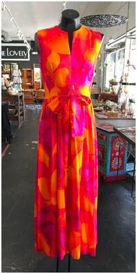 Vintage Bright Maxi Sleeveless Dress