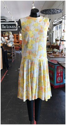 Vintage Pastel Flower Day Dress