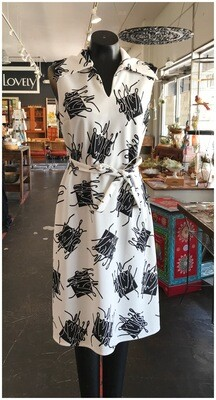 Vintage Black and White Mod Dress