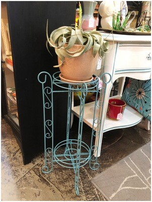 Vintage Green Metal Plant Stand