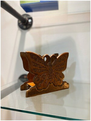 Vintage Wood Butterfly Napkin Holder