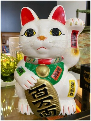"""Large 10"""" Lucky Cat Bank"""