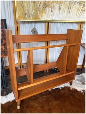 Mid Century Wood Bookcase
