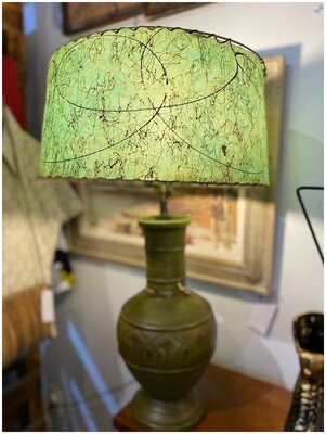 Vintage 1950's Lamp with Fibre Glass Shade