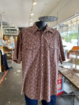 Men's Vintage Wrangler Shirt with Pearl Snap Buttons