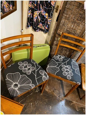 Mid Century Set of 2 Walnut Chairs