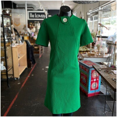 Vintage Handmade Kelly Green Shift Dress