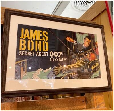 Vintage James Bond Board Game Illustration Sean Connery Version