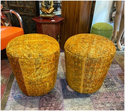 Handmade Cone Stool Made With Vintage Fabric