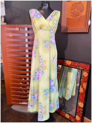Vintage Hawaiian Maxi with Shawl