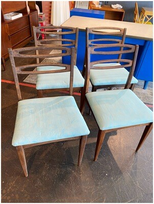 Mid Century Set of Four Dining Chairs