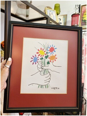 "Framed Picasso Print ""Bouquet of Peace"" 1958"