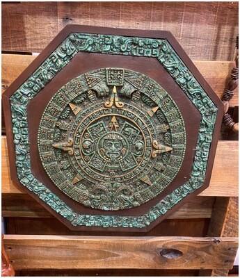 Vintage Aztec Calendar Wall Plaque