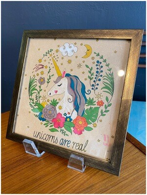Vintage Unicorns Are Real Framed Wall Art