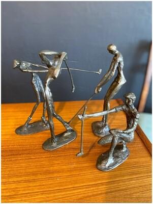 Mid Century Brutalist Golf Sculptures, Set of 4
