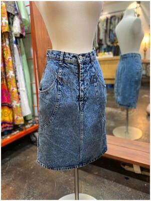 Vintage Cecilene Denim Skirt