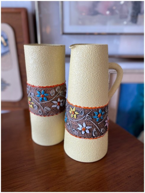 Vintage Italian Pitcher & Vase
