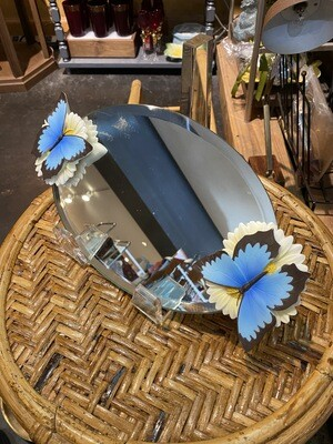 Vintage Butterfly Mirrored Tray