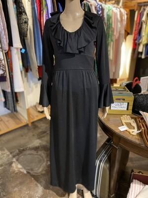 Vintage 1970's Lou Ette Cali Fluted Sleeve Dress