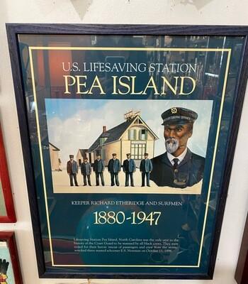 Pea Island Lifesavers Framed Poster