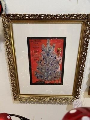 Vintage Aluminum Tree Framed Advertisement