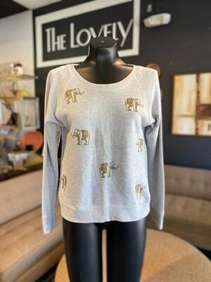 Modern Elephant Sweatshirt with Back Ties