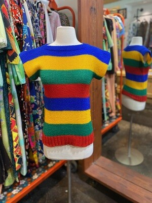 Vintage Rainbow Knit Sweater