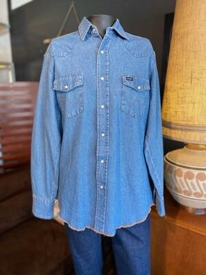Men's Vintage Wrangler Denim Shirt