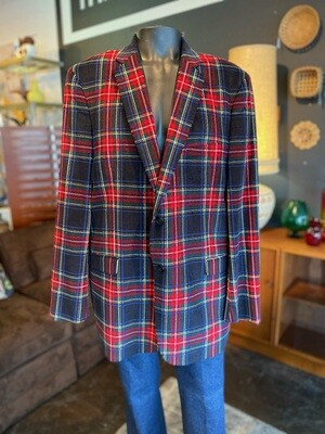 Men's Saddlebred Plaid Blazer
