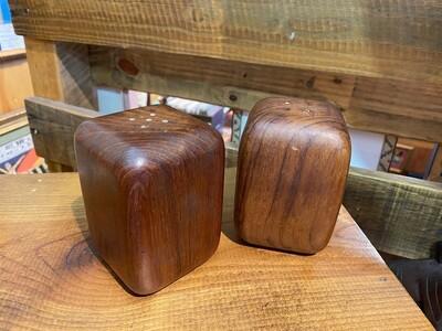 Mid Century Wood Salt & Pepper Shakers