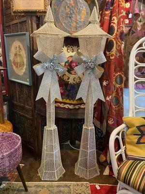 Vintage Christmas Holiday Lamp Posts