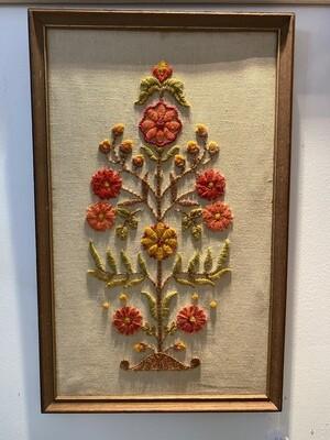 Vintage Crewel Stitch Tree of Life