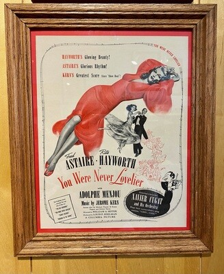 Vintage Rita Hayworth & Fred Astaire You Were Never Lovelier Ad