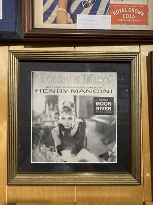 Vintage Framed Breakfast at Tiffany's Wall Art