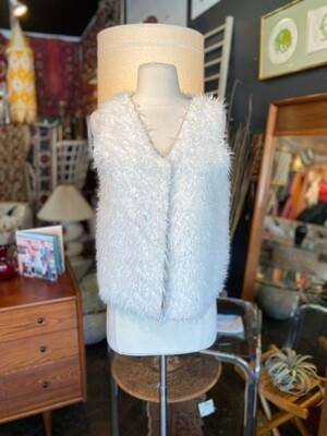 Modern Faux Fur White Vest