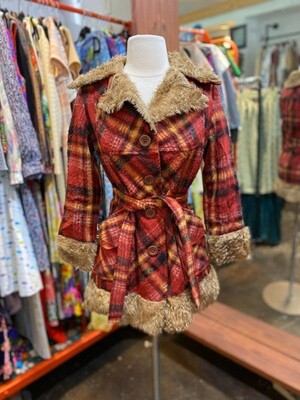 Vintage 1960's Fleece Coat