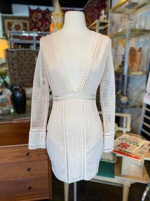 Modern Luxxel Cream Mesh Dress