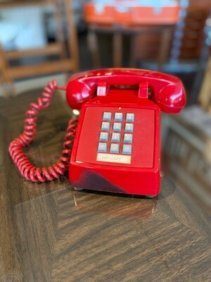 Vintage Red Touch Tone Desk Telephone
