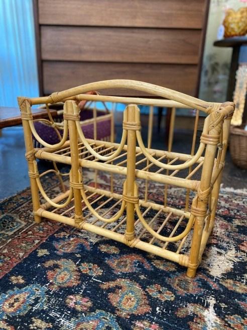 Vintage Bamboo Wine Rack
