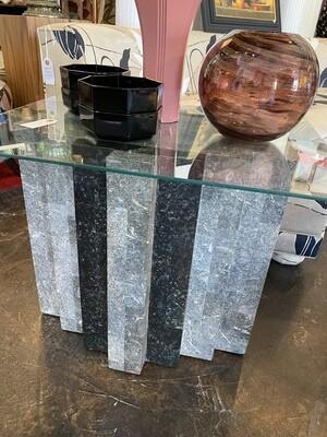 Post Modern Black Marble Side Table