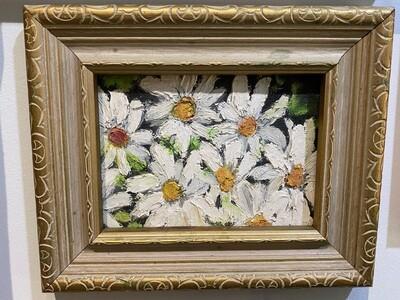 "Original ""Just Daisies"" Framed Painting"